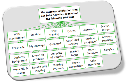 Customer satisfaction attributes